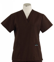 Scrub Med womens v-poc scrub top dark chocolate