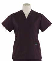 Scrub Med womens v-poc scrub top eggplant