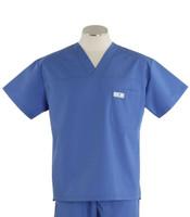 scrub med mens v-neck scrub top bimini blue