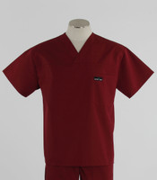 Scrub Med mens discount v-neck scrub top currant