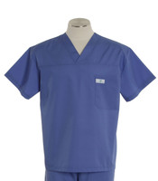 scrub med mens v-neck scrub top hyacinth