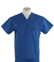 Scrub Med mens discount v-neck skipper blue scrub top