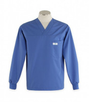 Scrub Med Mens long sleeve Bimini blue scrub top