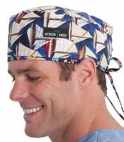 Scrub Med print surgeons cap
