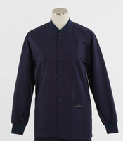 Scrub Med ROM Lab Jacket Navy
