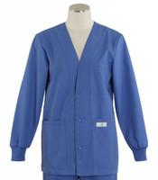 Scrub Med womens v-neck lab jacket bimini blue