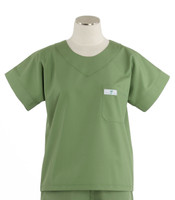 Scrub Med Womens Solid Scrub Top Bay Leaf