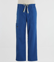 Scrub Med mens drawstring skipper blue scrub pants