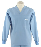 Scrub med long sleeve celestial blue scrub top on sale