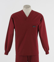 Scrub med mens discount long sleeve scrub top currant