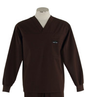 Scrub med long sleeve dark chocolate scrub top
