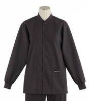 scrub med ROM charcoal lab jacket