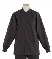 scrub med ROM charcoal lab jacket
