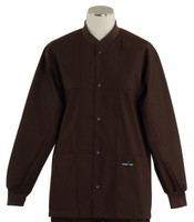Scrub Med ROM dark chocolate lab jacket