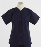 Scrub Med womens baseball scrub top navy