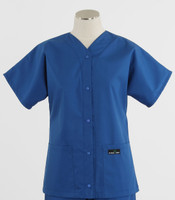 Scrub Med discount womens baseball scrub top skipper blue