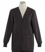 Scrub Med womens v-neck lab jacket charcoal