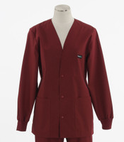 Scrub Med womens v-neck lab jacket on sale currant