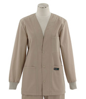 Scrub Med womens v-neck lab jacket on sale khaki