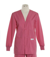 Scrub Med womens v-neck lab jacket on sale mesa rose