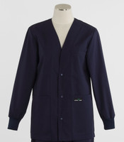 Scrub Med womens v-neck lab jacket on sale navy