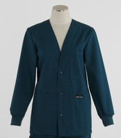 Scrub Med womens v-neck lab jacket spruce