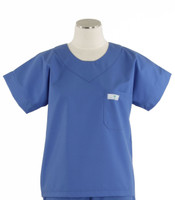 Scrub Med womens scrub top Bimini blue