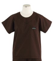 Scrub Med womens scrub top dark chocolate