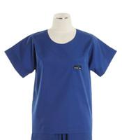 Scrub Med Womens Solid Scrub Top Pacific Blue (ScrubLite)