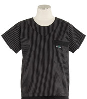 Scrub Med womens scrub top stripe with black