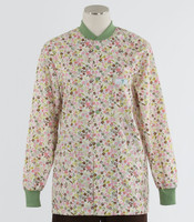 Scrub Med womens crew neck lab jacket frolic