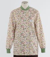 Scrub Med Womens Print Crew Neck Lab Jacket Frolic