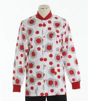 Scrub Med womens crew neck print lab jacket on sale lady bug paradise