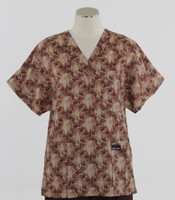Scrub Med womens v-poc print scrub top on sale garden walk