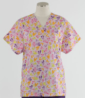 Scrub Med womens v-poc print scrub top on sale light hearted