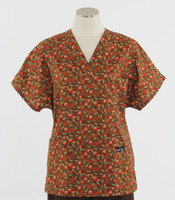 Scrub Med womens v-poc scrub top on sale panzy pazazz