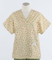 Scrub Med womens v-poc print scrub top on sale sweet pea