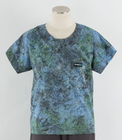 Scrub Med Womens Print Scrub Top Aster Bloom - Original Price: $31.00 - ALL SALES FINAL!