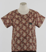 Scrub Med womens print scrub top on sale garden walk