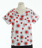 Scrub Med womens print scrub top on sale ladybug paradise