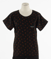 Scrub Med Womens Print Scrub Top Pumpkin Party