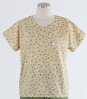 Scrub Med womens print scrub top on sale sweet pea