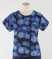 Scrub Med Womens Print Scrub Top Winter Wonder