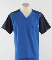 Carhartt Mens Scrub Top with Color Block Royal/Navy