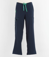 Carhartt Womens Petite Cross Flex Boot Cut Scrub Pants Navy