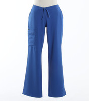 Jockey Womens Petite Scrub Pants with Half Elastic, Half Drawstring Royal