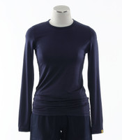 WonderWink Womens Silky Long Sleeve Tee Navy
