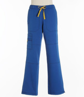 WonderWink Womens Petite 4-Stretch Sporty Cargo Scrub Pants Royal
