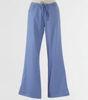 maevn Womens Fit Tall Drawstring w/ Back Elastic Flare Leg Scrub Pant Ceil Blue