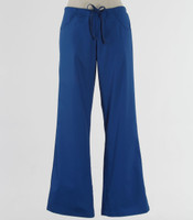 maevn Womens Fit Petite Drawstring w/ Back Elastic Flare Leg Scrub Pant Royal